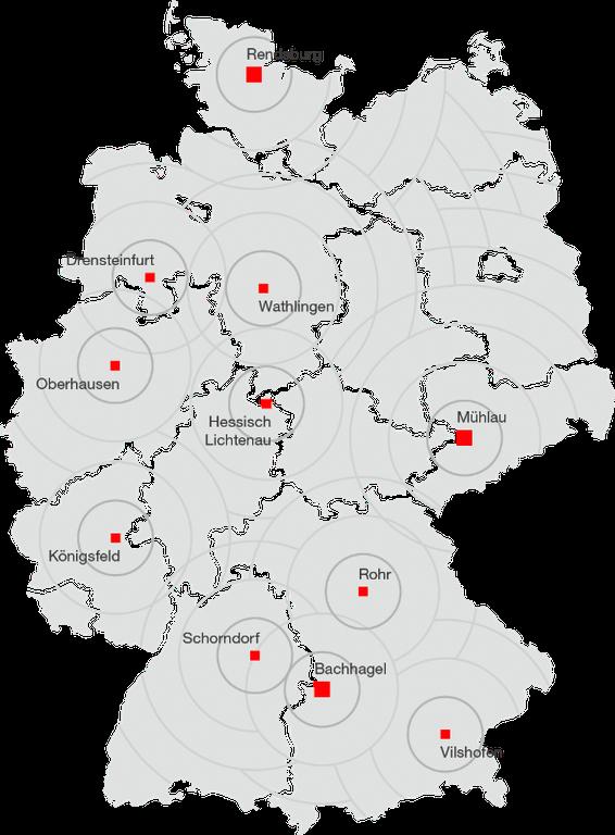 ZIEGLER Service locations Germany web